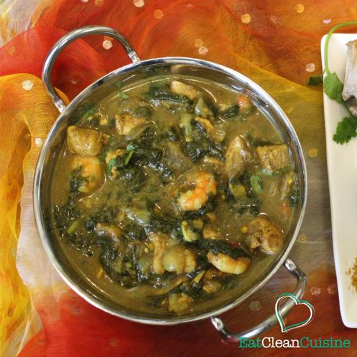 Chicken, King Prawn and Spinach Curry