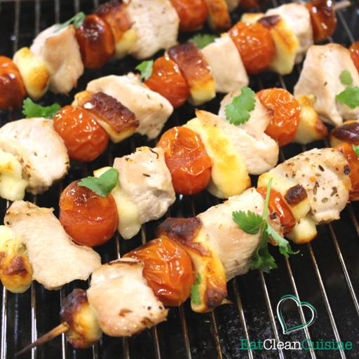 Halloumi and Turkey Kebabs