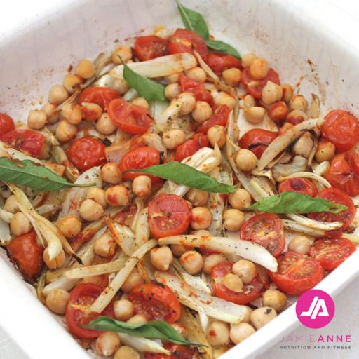 Roasted Fennel, Cherry Tomatoes and Chickpeas